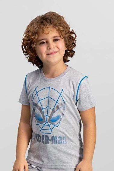 Spider-Man Lisanslı  Erkek Çocuk T-Shirt Gri